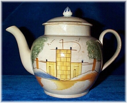 Leeds Castle teapot before restoration